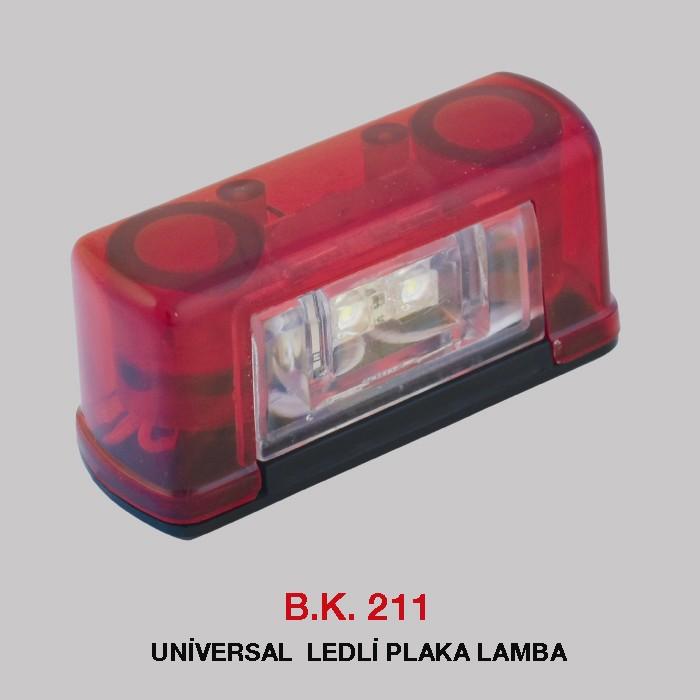 B.K 211 - UNİVERSAL  LEDLİ PLAKA LAMBA