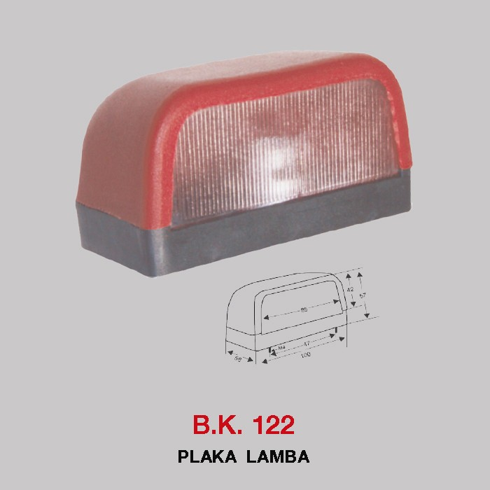 B.K 122 - PLAKA LAMBA