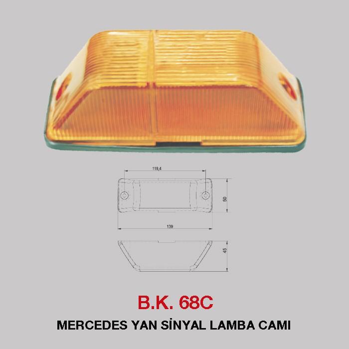 B.K 68C - MERCEDES YAN SİNYAL LAMBA CAMI