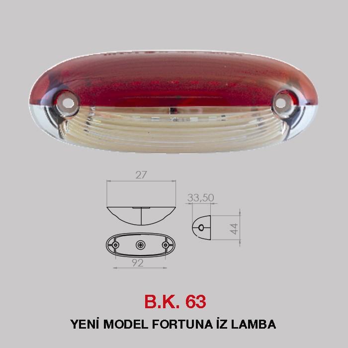 B.K 63 - YENİ MODEL FORTUNA İZ LAMBA