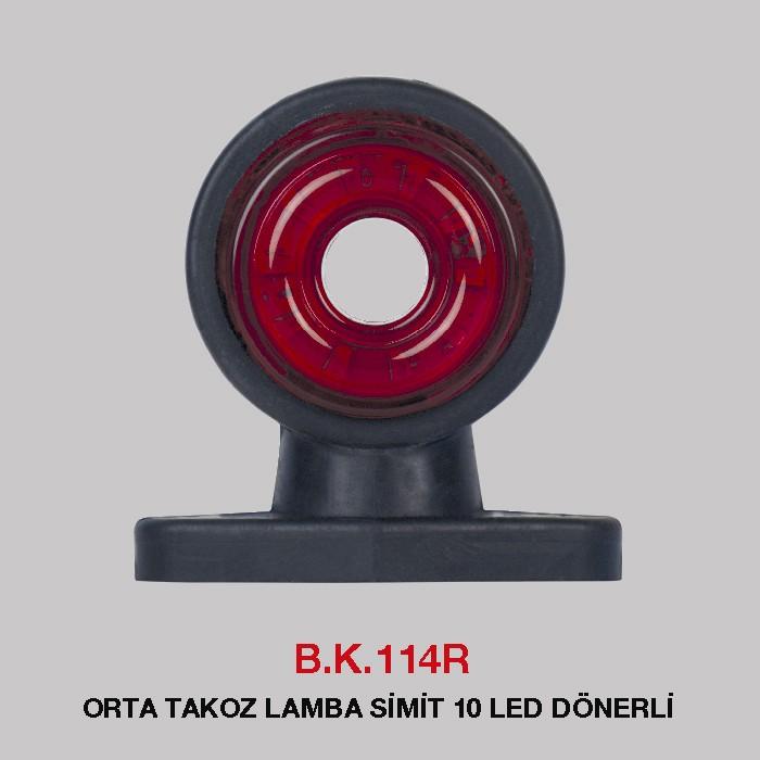 B.K 114R - ORTA TAKOZ LAMBA SİMİT 10 LED DÖNERLİ
