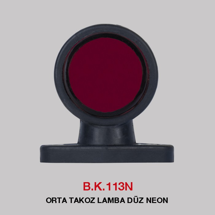 B.K 113N - ORTA TAKOZ LAMBA DÜZ NEON