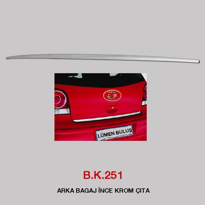B.K 251 - ARKA BAGAJ İNCE KROM ÇITA