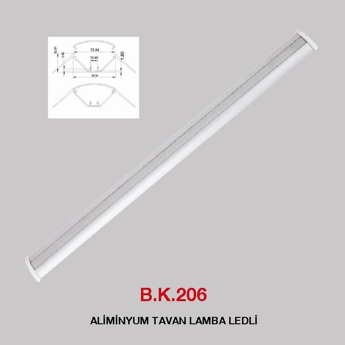 B.K. 206 -  ALİMİNYUM TAVAN LAMBA LEDLİ