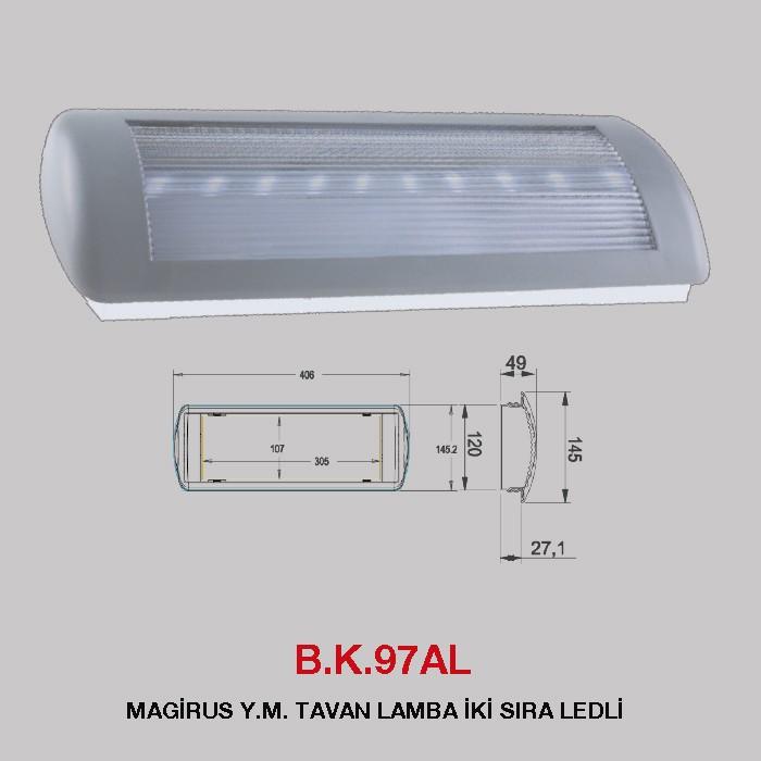 B.K. 97L - MAGİRUS Y.M. TAVAN LAMBA TEK SIRA LEDLİ
