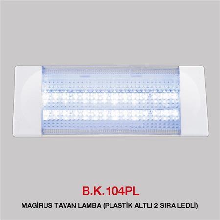 B.K. 104PL - MAGİRUS TAVAN LAMBA PLASTİK ALTLI 2 SIRA LEDLİ